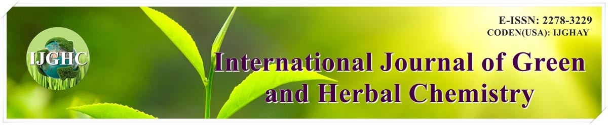 IJGHC : International Journal of Green and Herbal Chemistry